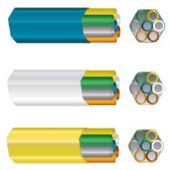 Mikrokanavanippu HEXATRONIC - DB 7x14/10mm VALKOINEN - HEXATRONIC
