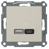Telerasia Exxact - USB-lataus PR A+C 2,4 A MET - Schneider Electric