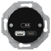 Telerasia Renova - USB-lataus PR A+C 2,4 A MUS - Schneider Electric