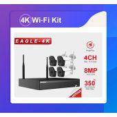 Kameravalvontajärjestelmä - Wifi-Setti 4K / 4Kam - Celotron